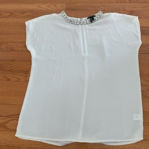 Forever 21 White And Silver Blouses Size : M.